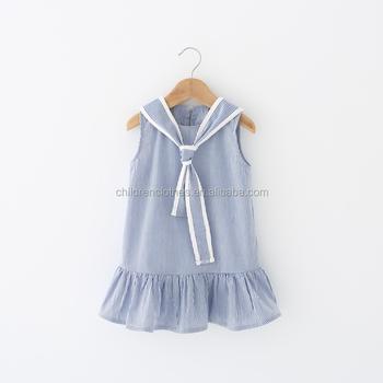 7342c1bf0 Children Frocks Designs 2018 Green Stripes Clothing Baby Dress ...