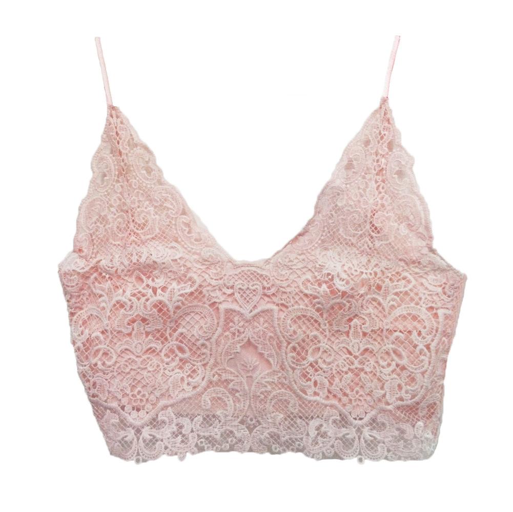 036173856aa Get Quotations · 2015 New Fashion Summer Women Sexy Lace Bras Deep V Neck  Bralette Spaghetti Strap Crochet Tank