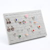 Gray Wholesale 100 Slots Multicolor Velvet Wooden Jewelry Silver Ring Display Stand