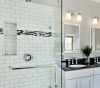 white subway mosaic tile carrara white mosaic for shower room wall