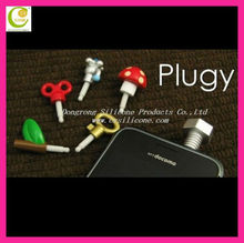 Decorative Cell Phone Accessories Mobile Phone Silicone Star Dust Plug Earplug Jack Crystal Dust Plug for iphone