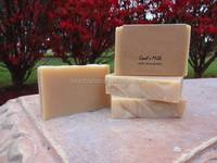 Goat's Milk Soap with Shea Butter, Unscented, 100% Natural Cold Process, Sensitive Skin Soap