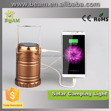 Factory competitive price solar led lantern, solar led camping light with hook