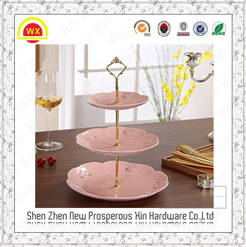 3 Tier Cake Cupcake Plate Stand Handle Hardware Fitting Holder