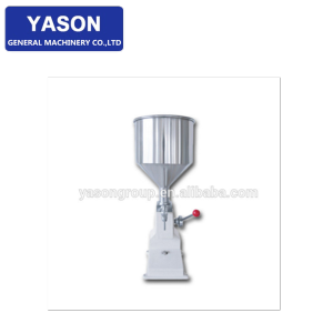 YS-A03 5-70ml Small Scale Honey Filling Machine For Thick Liquid Manual Paste Cream Shampoo Filler