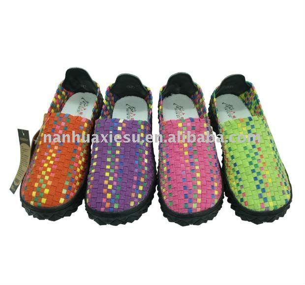 2bbb4e93721b Women Weave Elastic Shoes