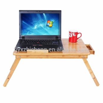 Ongekend Groothandel Bamboe Opvouwbare Laptop Tafel Schoot Bureau Met Lade FX-16