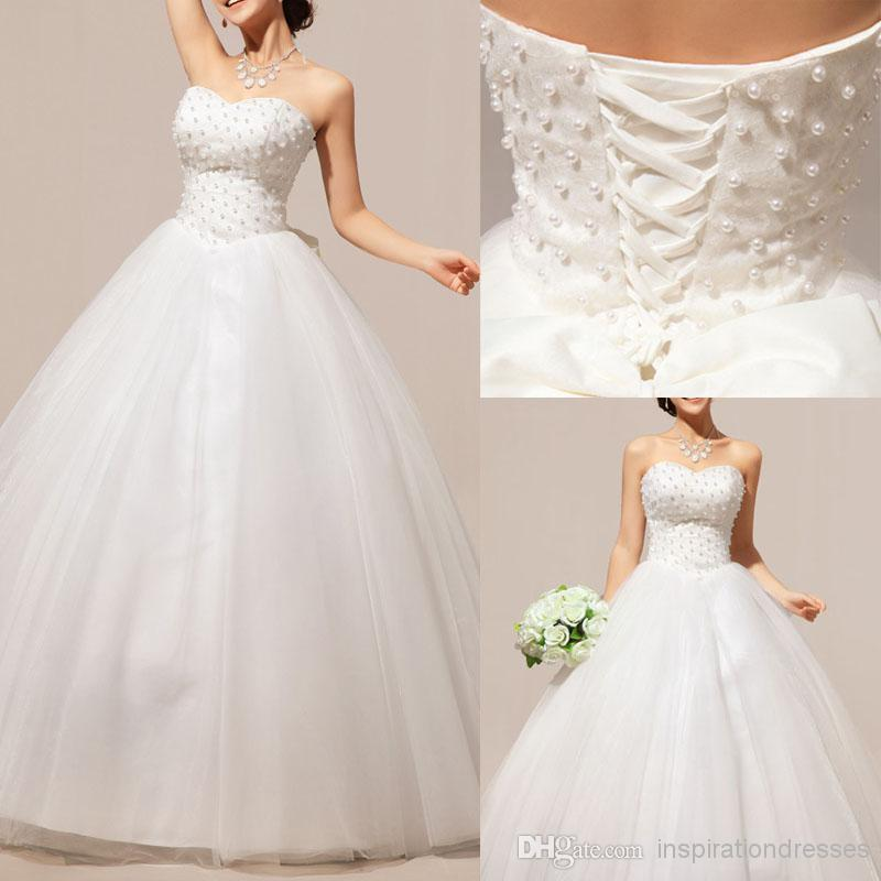 Wedding Ball Gowns Sweetheart Neckline: Cinderella Ball Gown Wedding Dresses 2015 Pearls
