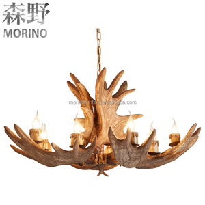 Antlers Chandelier Resin Lamp Modern Led Antler Chandelier Lustre Chandeliers E14 Vintage Lights