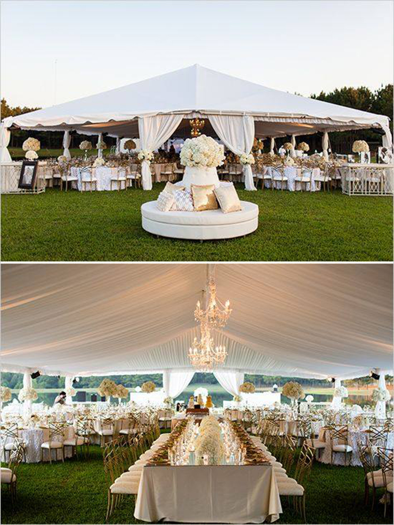 30x60m luxury white wedding party tent with beautiful decoration