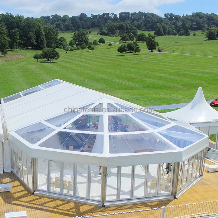 Outdoor Huge Clear Span Luxury Wedding Polygon Marquee Tent For 5000 People