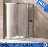 elegant arc-shaped sliding door with shower room