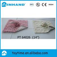 custom plush bunny rabbit blanket toy/stuffed animal blanket soft for baby