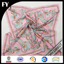 Custom Design Scarf Digital printed twill silk scarf 90x90