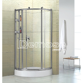 Stainless Steel Frame 3 Sided Shower Enclosure - Buy 3 Sided Shower ...
