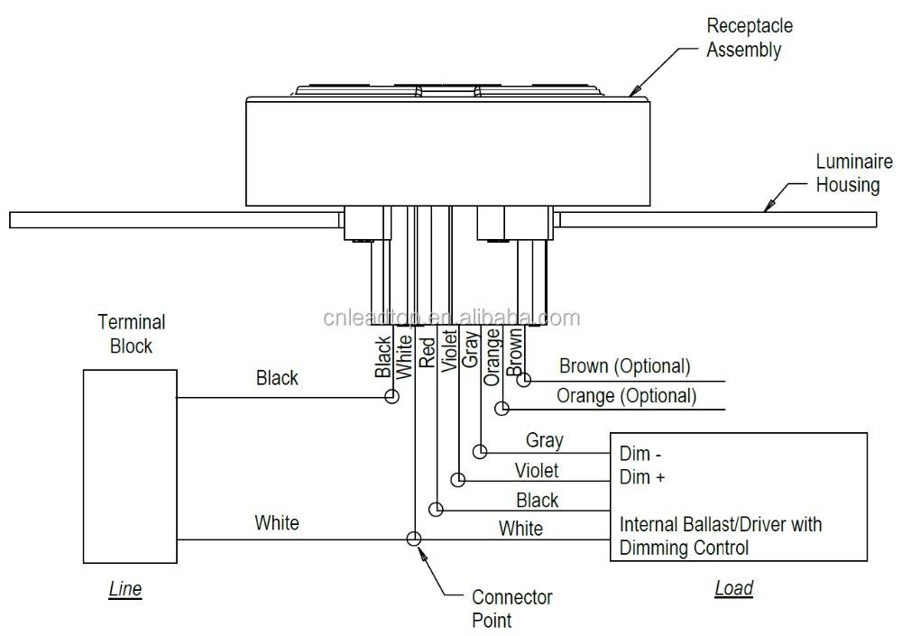 Ansi C136 41 Nema Socket Ul Approved 7pin Dimming