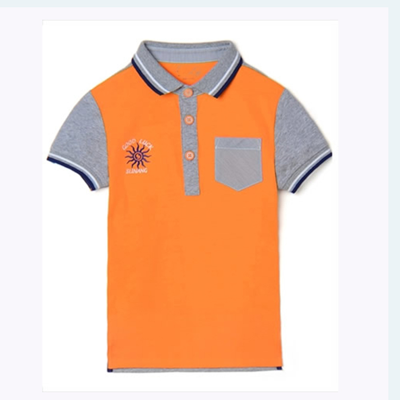 China Manufacturers custom tshirt wholesale children's boutique clothing fashion summer boys 100%cotton polo neck Tshirt