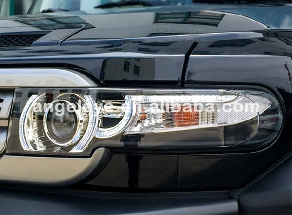 Led Headlights For Toyota Fj Cruiser Bi Xenon Projector Lens Front ...