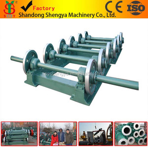 the centrifugal machine roll at high speed for several minutes, when the concrete all paste to mould, the pole become hollow.