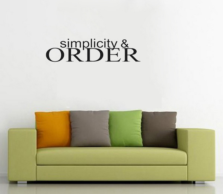 Simplicity And Order Decorative Wall Stickers Creative Home Decor Decals Wallpapers For Beautiful Living Room