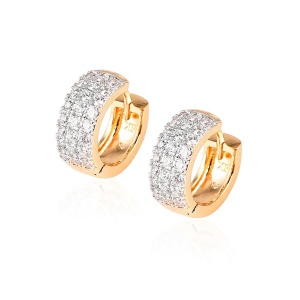 92427 Xuping huggies earrings for women,model of gold earring