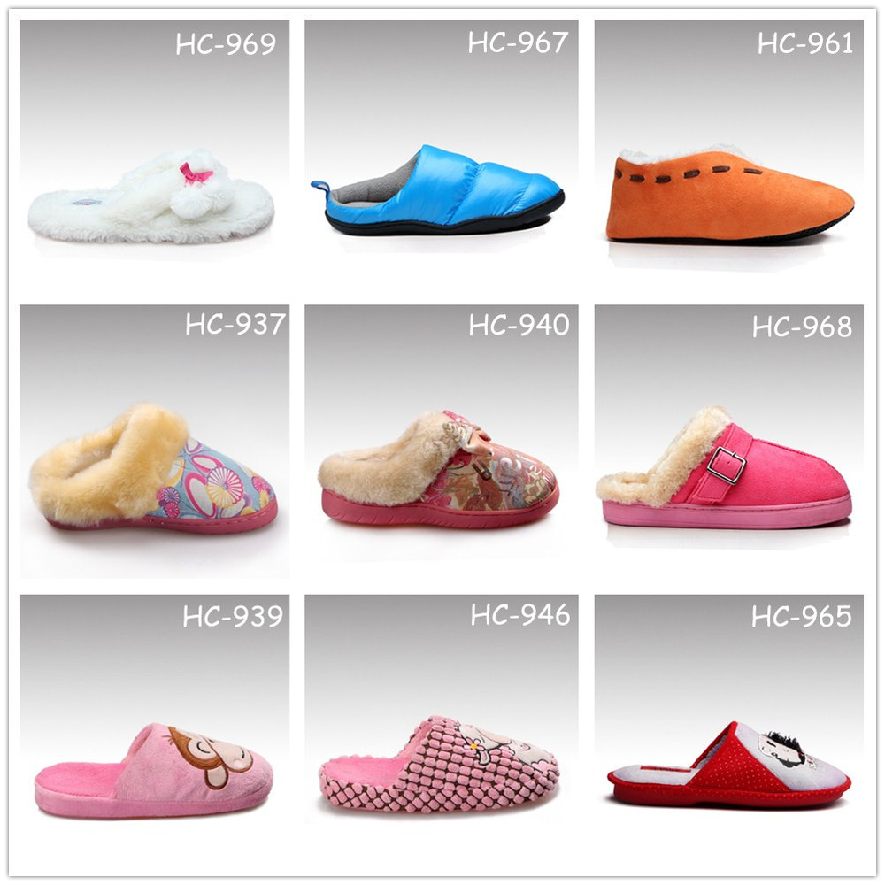Mens Bedroom Slippers Leather Hc 961 Cow Suede Upper Good Quality Fur Lining Soft Sole Warm Mens