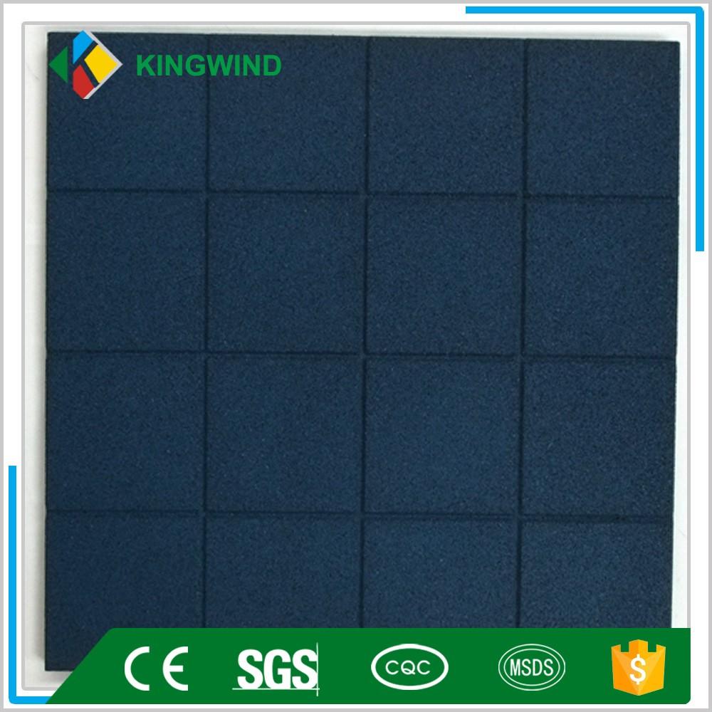 16 Square Gym Flooring Rubber Tiles Floor Tile