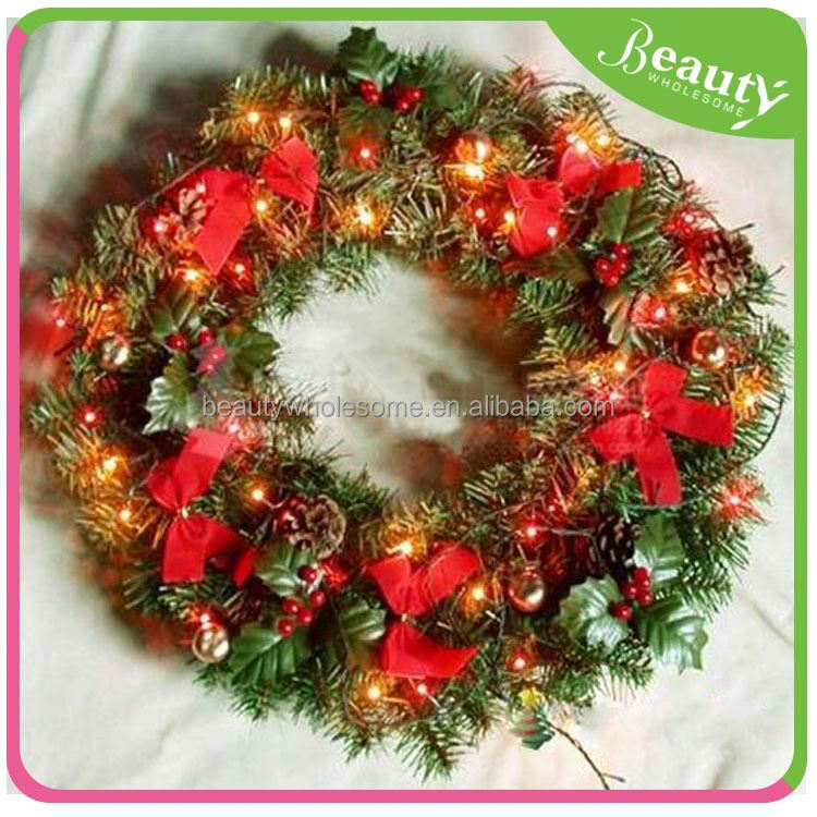 ornamental promotional christmas hanging ball garland , christmas wreath ball decoration ,H0T061
