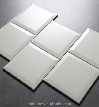 quality beveled subway tile   150x150mm High Quality Bevelled Ceramic Subway Wall Metro ...