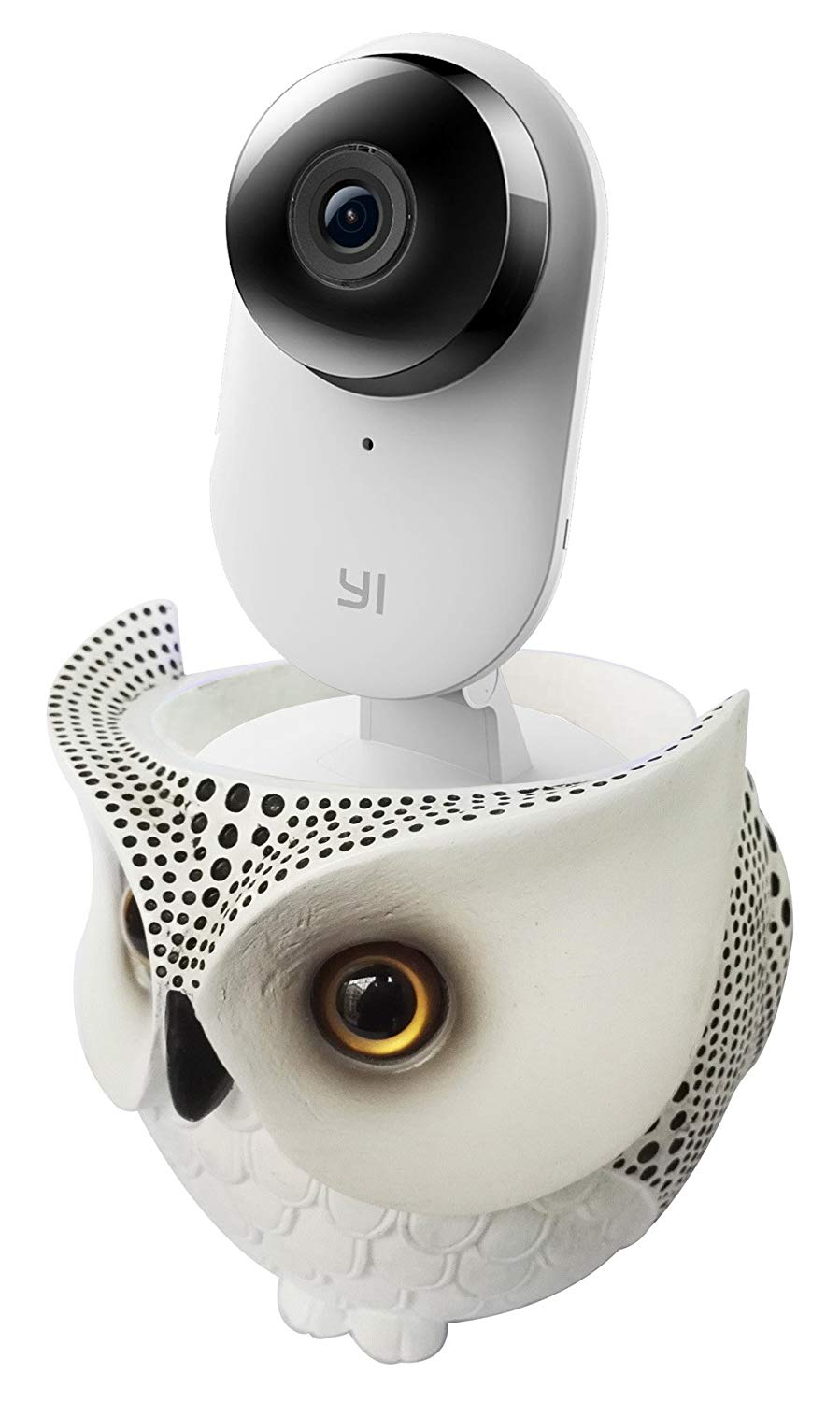 FitSand Owl Statue Crafted Stand Station Guard Holder for YI Home Camera 2 1080p Wireless IP Security Surveillance System HDR