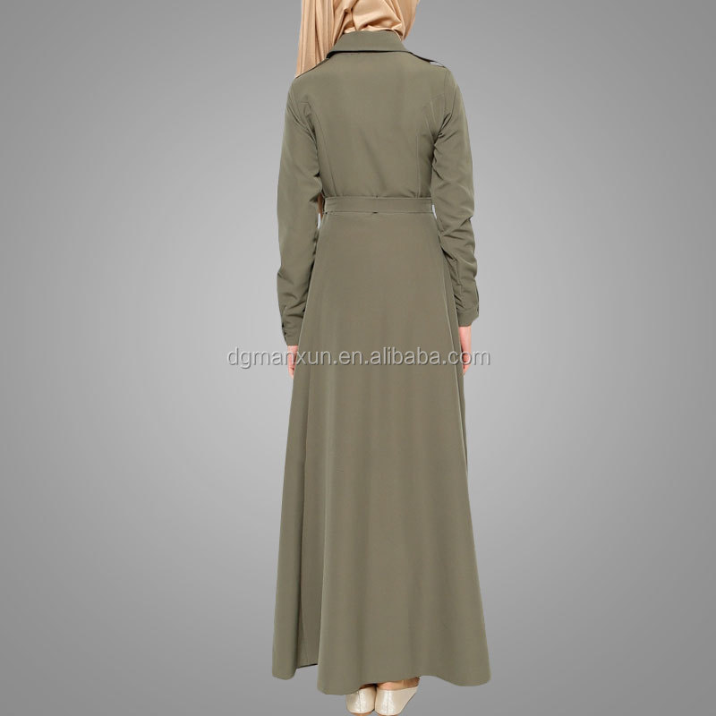 2018 modern islamic clothing polyester manxun women abaya dress