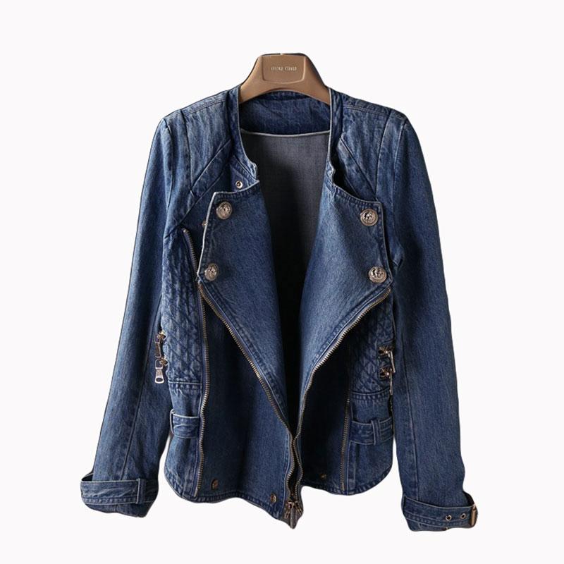 946f18c5330a6 Get Quotations · New 2015 Winter Runway Women Denim Jackets Tops Long  Sleeve Fashion Blue Denim Coat Slim Jeans