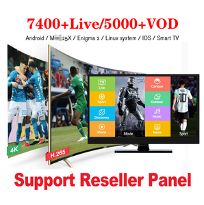 IPTV 12 Months Subscription USA Brasil Italia Europe IPTV Reseller M3U Channel List for Android TV Box Mxg IPTV Reseller Panel