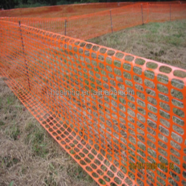 100 Virgin Hdpe Orange Construction Barrier Fence Plastic