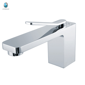 KB-53 european style long spout basin single handle bathroom ceramic valve basin sink one hole water tap brand