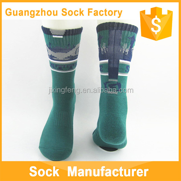 Men's Full Terry Custom Outdoor Professional Cycling Socks Thigh High Socks Wholesale