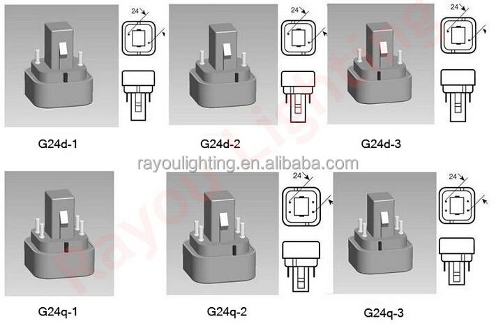 Unique Design Led G24q 2 Light 11w 13w Led Pl Light 4 Pin