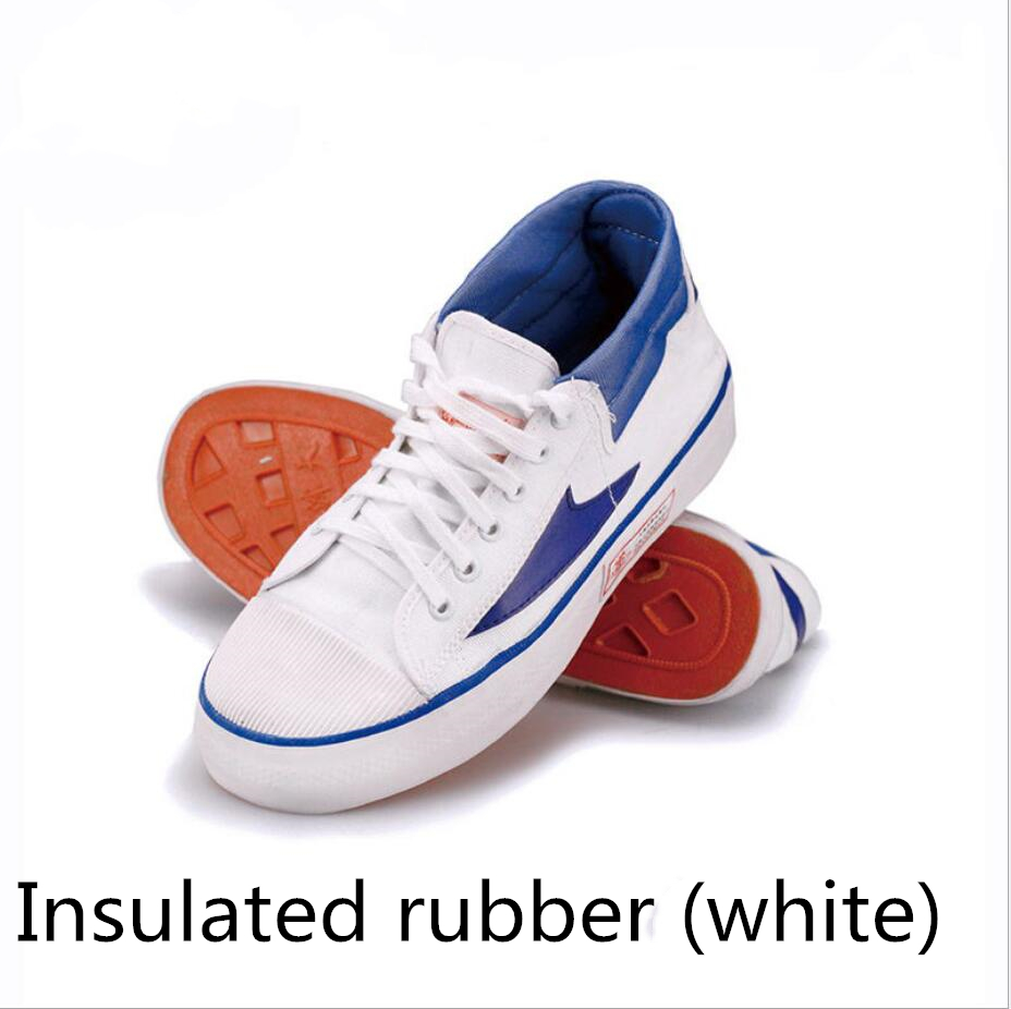 Electrician insulated shoes man 15KV light breathable soft bottom canvas shoes for labor protection FW-JY0005