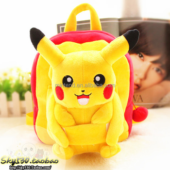 Wholesale Lovely Cotton Kindergarten Pokemon Backpack With Pikachu ... 8caef85855be4