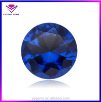 stock sapphire corundum jewelry decoration round synthetic blue ruby