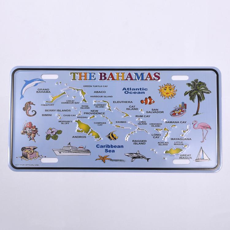 Freeport Bahamas Island Aluminum License Plate