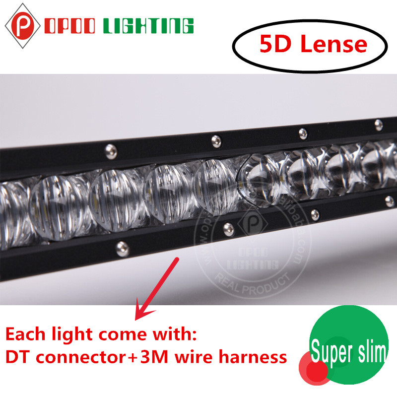 Super slim led light bar,One row 50inch 150w 5D super slim led light bar