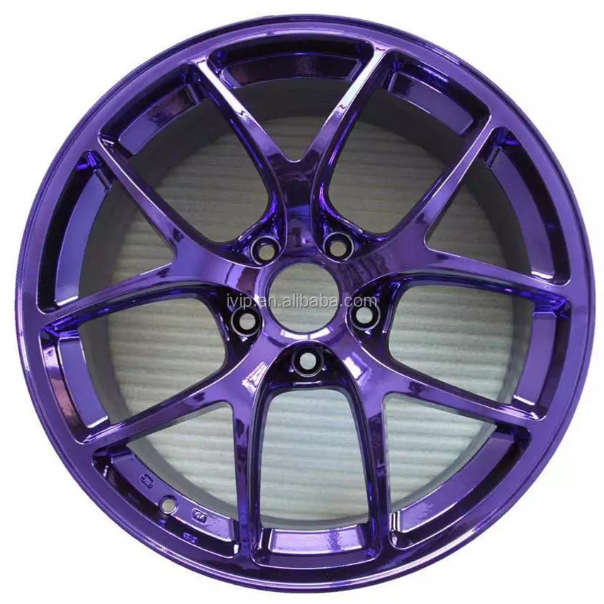 Ivip High Glossy Silver Purple Chrome Paint Wheel