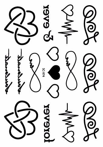 Sc 974 Ultimo Taty Corazon Carta Cardiograma Disenos Del Tatuaje