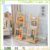 Wood Carved Garden Accessories Design Flower Stand Storage Racks Shelf