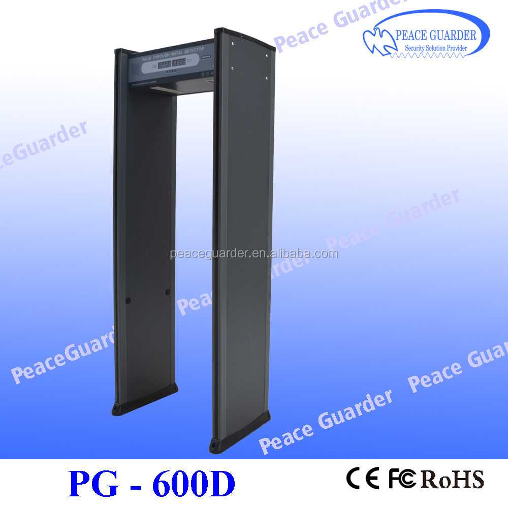 6zone metal detctor gate with free handheld metal detector for factory security checkpoint