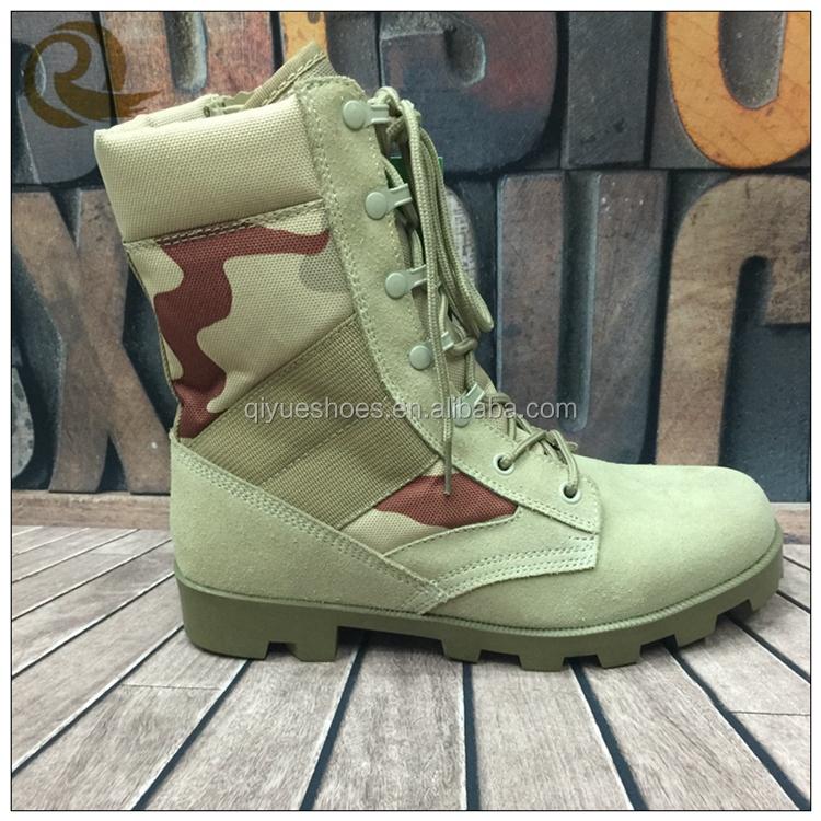 Haute qualité camouflage panama beige désert allemand militaire bottes prix