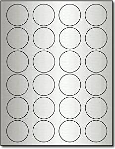 "1 2/3"" Round Silver Foil Labels for Laser Printers - 240 Labels"