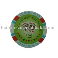 11.5g papier sticker pokerchips
