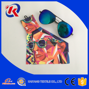 beautiful picture hot transfer printing microfiber cleaning cloth customize packaging